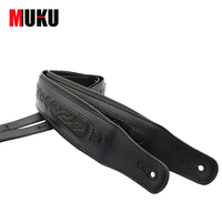 Guitar Straps Bass Straps Interlining With Thick Brown Genuine Leather Promotional Packages Mailed