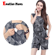 Emotion Moms maternity Clothes nursing clothing Breastfeeding clothes for pregnant women Short Jumpsuits Rompers