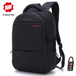 Tigernu Anti theft 20L Large Capacity 15.6 inch College Backpacks Men Black Backpack Female Women Mochila Laptop Bag15.6 17 inch