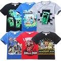 Fnaf Camisetas para meninos 5-14 T crianças verão T-shirt de manga curta mangas compridas crianças camisetas 5 noites com Freddie em Freddys dinossauros