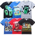 fnaf T-shirts for boys 5-14 T summer children's T-shirt short sleeved kids T shirts 5 nights with Freddie at Freddys dinosaurs