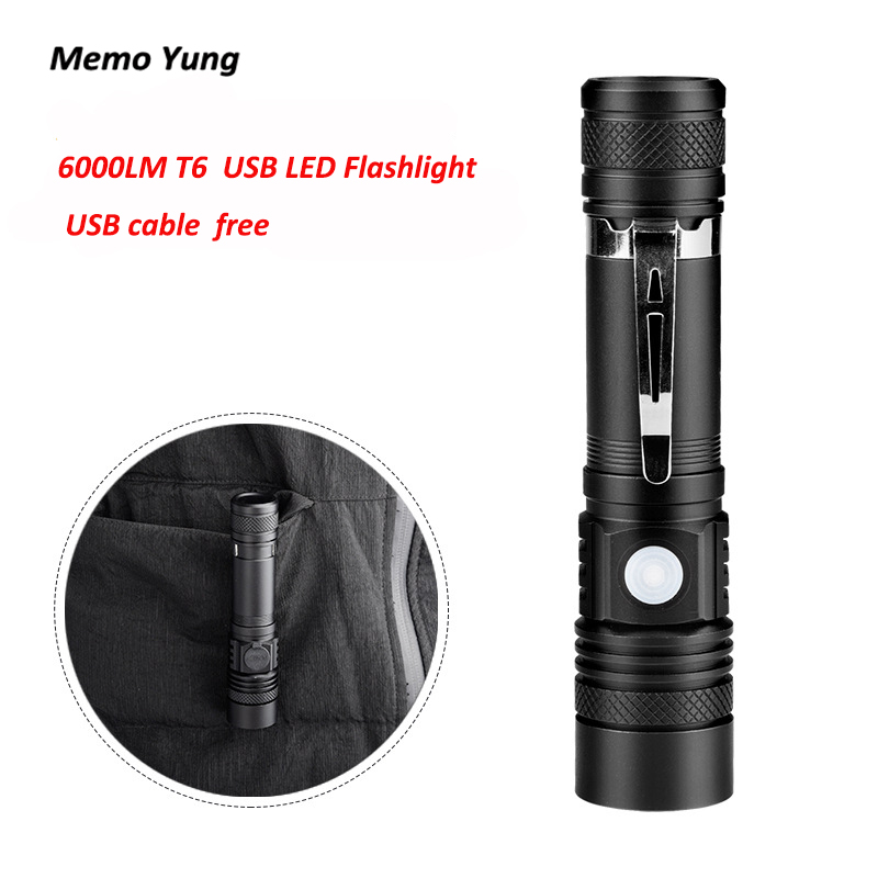 New Mini 6000LM T6 LED Flashlight Spot Lamp IPX4 Waterproof High Power Portable 3 Models Zoomable Camping Equipment Torch lamp useful convenient 3 models high low sos rotating focus led flashlight torch skid proof light lamp