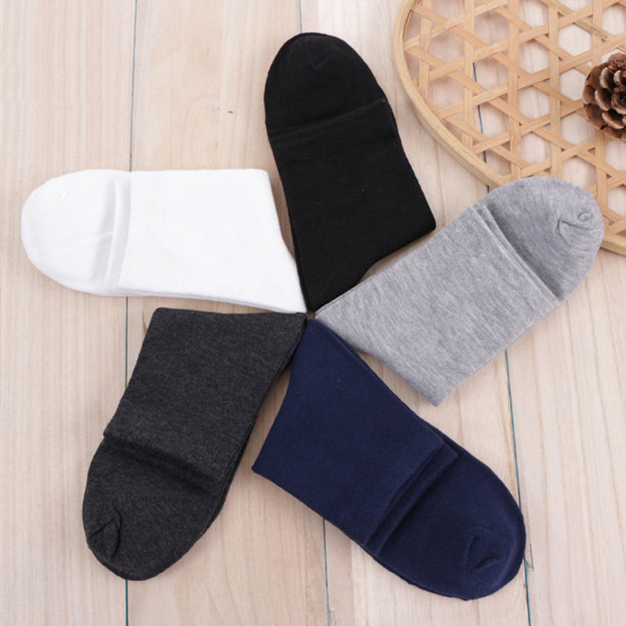 VERIDICAL 5 pairs/lot/box cotton men short socks business work formal cheap mens sheer socks breathable Solid meias masculino
