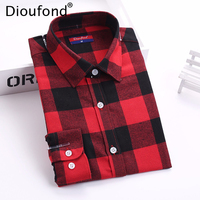 Women Tops And Blouses 2015 New Fashion Plaid Shirt European Long Sleeve Tops Turn Down Collar
