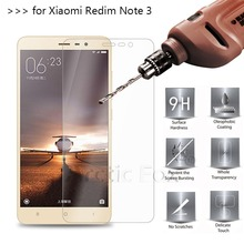 2.5D 0.26mm 9H Premium Tempered Glass For Xiaomi Redmi Note 3 / Redmi Note 3 Pro Screen Protector Toughened protective film *(China)