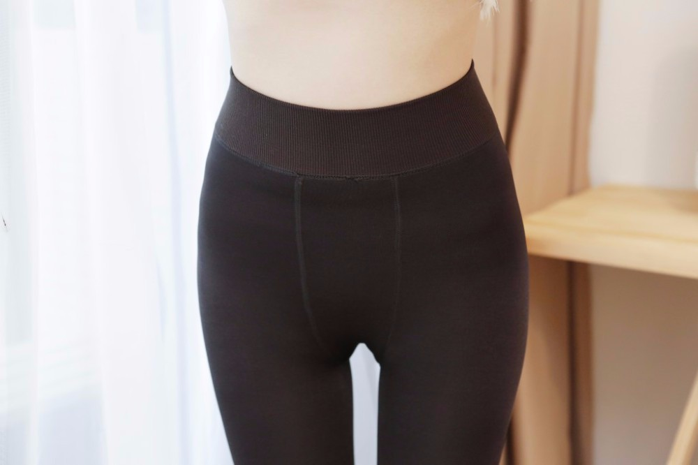 Rooftrellen Hot New Fashion Women's Autumn And Winter High Elasticity And Good Quality Thick Velvet Pants Warm Leggings 35