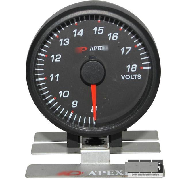 Universal 60 MM Apex * Voltímetro Gauge Meter 8-18 V Del Coche de Competición de 60mm Medidor de voltios Voltsfor Nissa * Fairlady 350Z 370Z 300ZX Z32 Z33 Z34