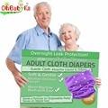 Ohbabyka adulto pañal lavable reutilizable pañales para la incontinencia unisex ajustable adultos pañales de tela un tamaño cupo todos 6 colores