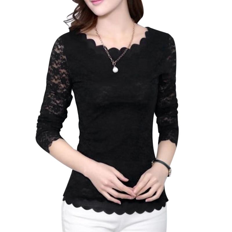 2018 Autumn Spring Women Blouse Shirts Elegant Ladies Office Blouse Long Sleeve Blouse Korean Fashion Clothing