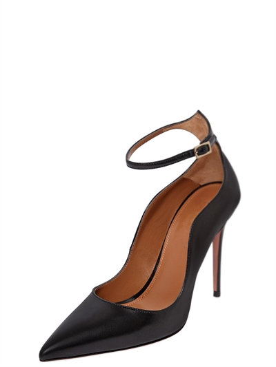 ФОТО New Pointed Toe shallow Pumps Wave shallow Black Pumps High Heel Thin Heel Buckle Pumps OL Style Women Dress Party Shoes 2017