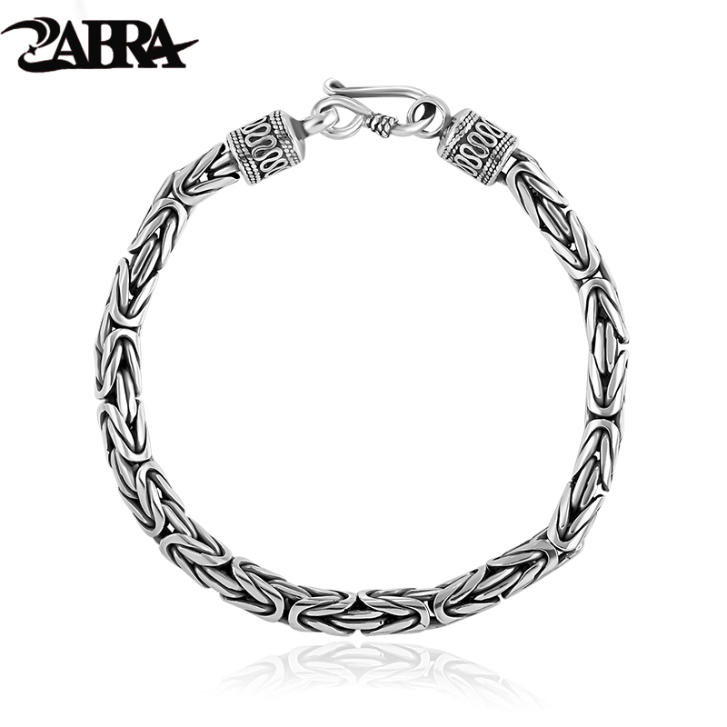 Real Solid Pure 925 Sterling Silver Peace Lines Bracelet 2 Size for Lovers Corsair Jewelleries Vintage Punk Thai Silver Men Lady