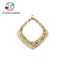 High-quality square yarn-cutting process pendant hand made DIY jewelry assembly accessories findings earrings making 10pcs/lot