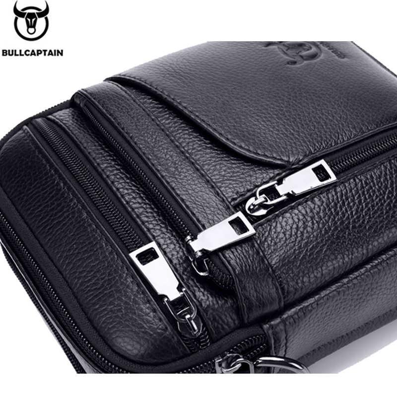 2019 Genuíno Homem De Couro Bolsa de Marca Homens Sacos Crossbody Sacos de Ombro Pequena Maleta Bolsa de Negócios Masculino Couro Messenger Bags