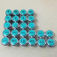 아케이드 크롬 도금 조명 12v LED 다른 아이콘으로 푸시 버튼 LED 단추 5 색을 사용할 수