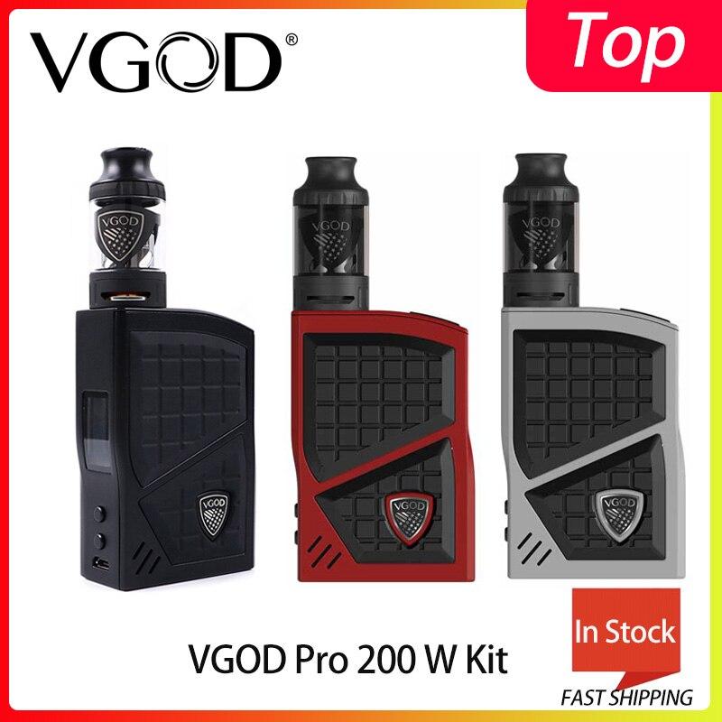 Original VGOD Pro 200 Box Mod Kit TC Vaporizer Mod 200w 4ml VGOD Sub ohm tank Atomizer Electronic Cigarettes 0.2ohm Coil Vape