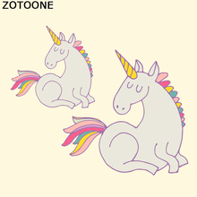 ZOTOONE Unicorn Patch Thermal Iron On Transfer Sticker Vinyl Hot Heat Transfers For Clothing T- Shirt Sweater Fabric Applique D
