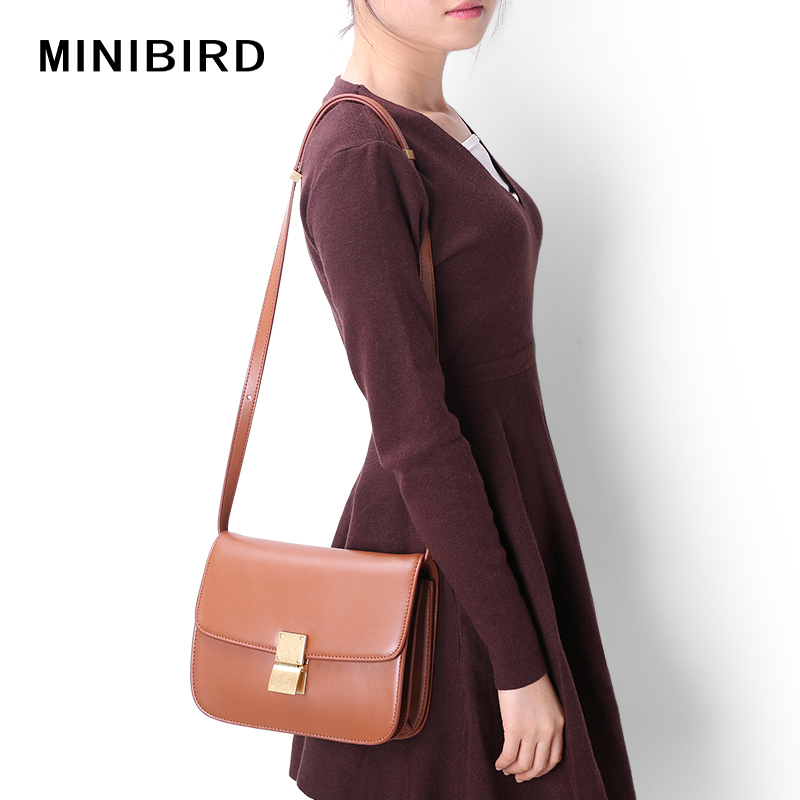 Quality Women Mini Flap Handbag Lady Genuine Leather Messenger Bags Airline Stewardess Simple Fashion Crossbody Shoulder