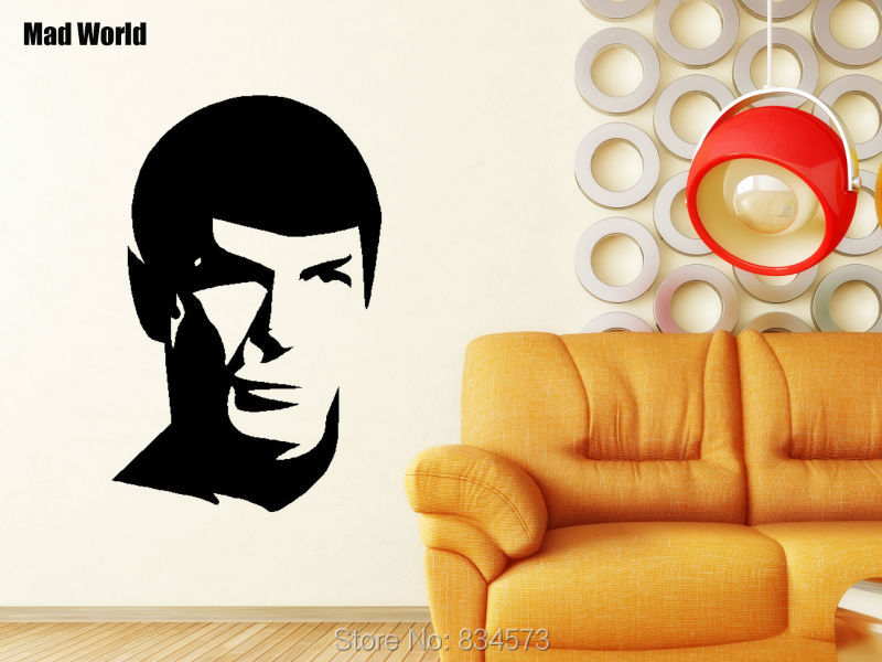 Mad World Spock Silhouette Wall Art Stickers Wall Decal Home DIY Decoration  Removable Room Decor Wall Stickers 88x57cm Part 64