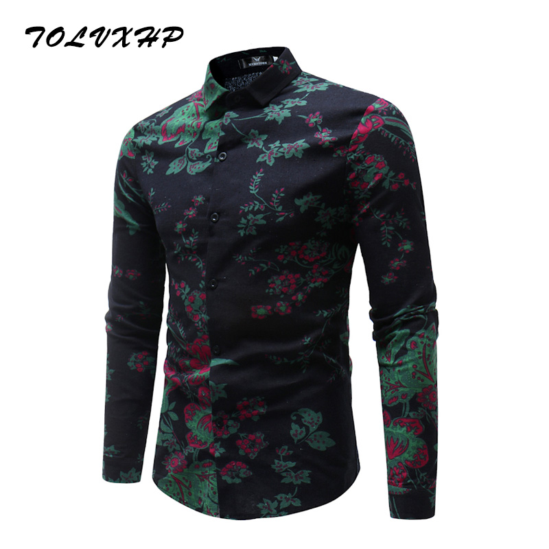 New Arrival Mens Hawaiian Shirt 2018 Male Casual Camisa Masculina Printed 13 Colors Beac ...