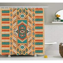 Vixm Tribal Shower Curtain Ethnic Aztec Secret Tribe Pattern In Native American Bohemian Style Fabric Bath