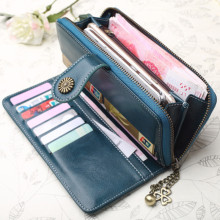 NOENNAME_NULL Women Lady Long Travel Wallet Zip Purse Card Phone Holder Case Clutch Handbag