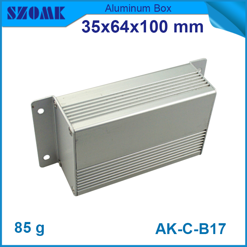 1 piece free shipping Aluminium heatsink junction box enclosures extruded aluminum enclosures 35(H)x64(W)x100(L) 1 piece free shipping small aluminium project box enclosures for electronics case housing 12 2x63mm