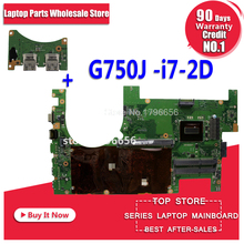 Send board + 2D G750JZ REV 2.0 I7-4860HQ I7-4700HQ i7-4720HQ  motherboard For asus G750J G750Jz Laptop motherboard 100% test ok цена и фото