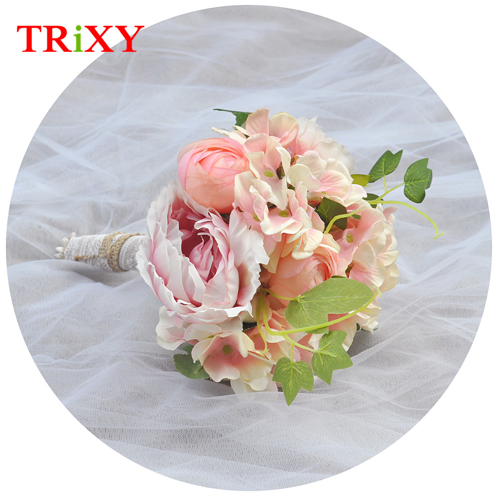 Trixy c15 cheap promotion amazing wedding bouquet bride bridal trixy c15 cheap promotion amazing wedding bouquet bride bridal holding flowers pink rose artificial flowers bridal bouquets in wedding bouquets from izmirmasajfo