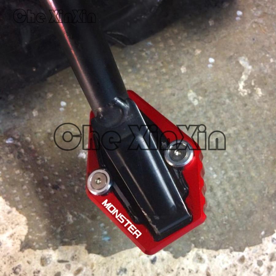 Aluminum Kickstand Side Stand Extension Plate Pad Ducati Multistrada 1200//1200S