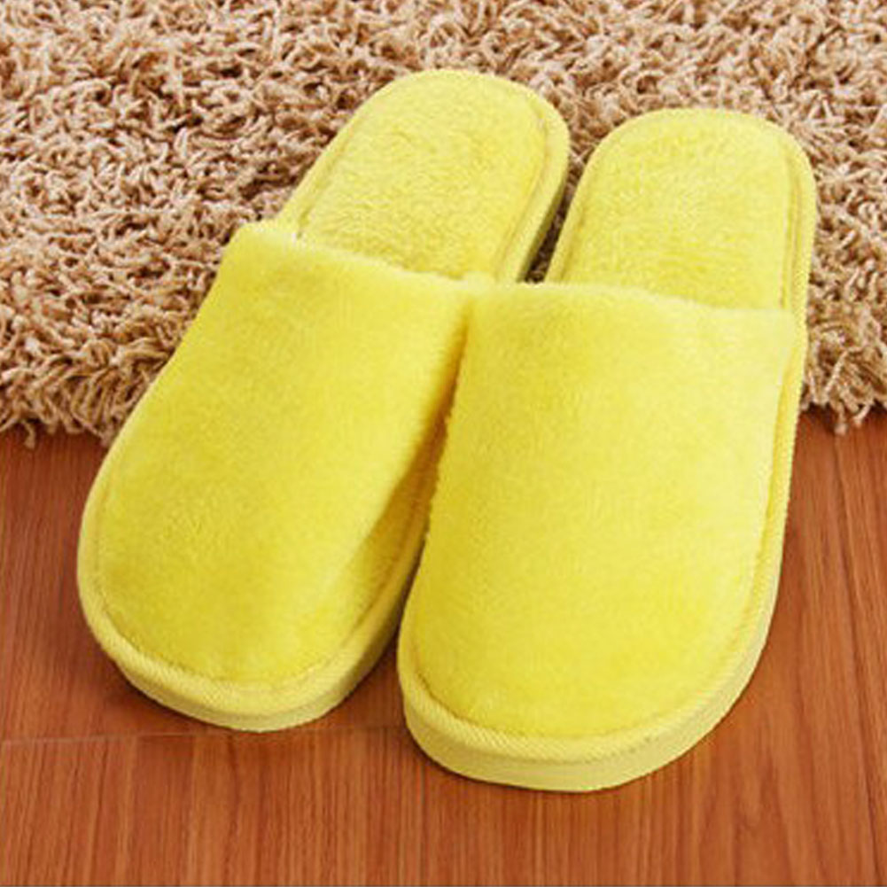 Winter Warm Men Slippers Male Indoor Home Plush Slippers Floor Non-slip Flat Shoes Slippers  &