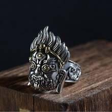 Кольцо mahakala ручной работы из серебра 925 пробы женское серебряное