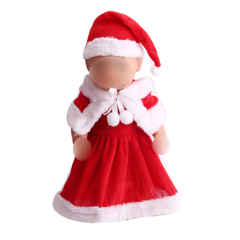 43 cm baby dolls Clothes new born red Christmas dress + hat Baby toys fit American 18 inch Girls doll f43 baby born doll clothes toys white polka dots dress fit 18 inches baby born 43 cm doll accessories gc18 36