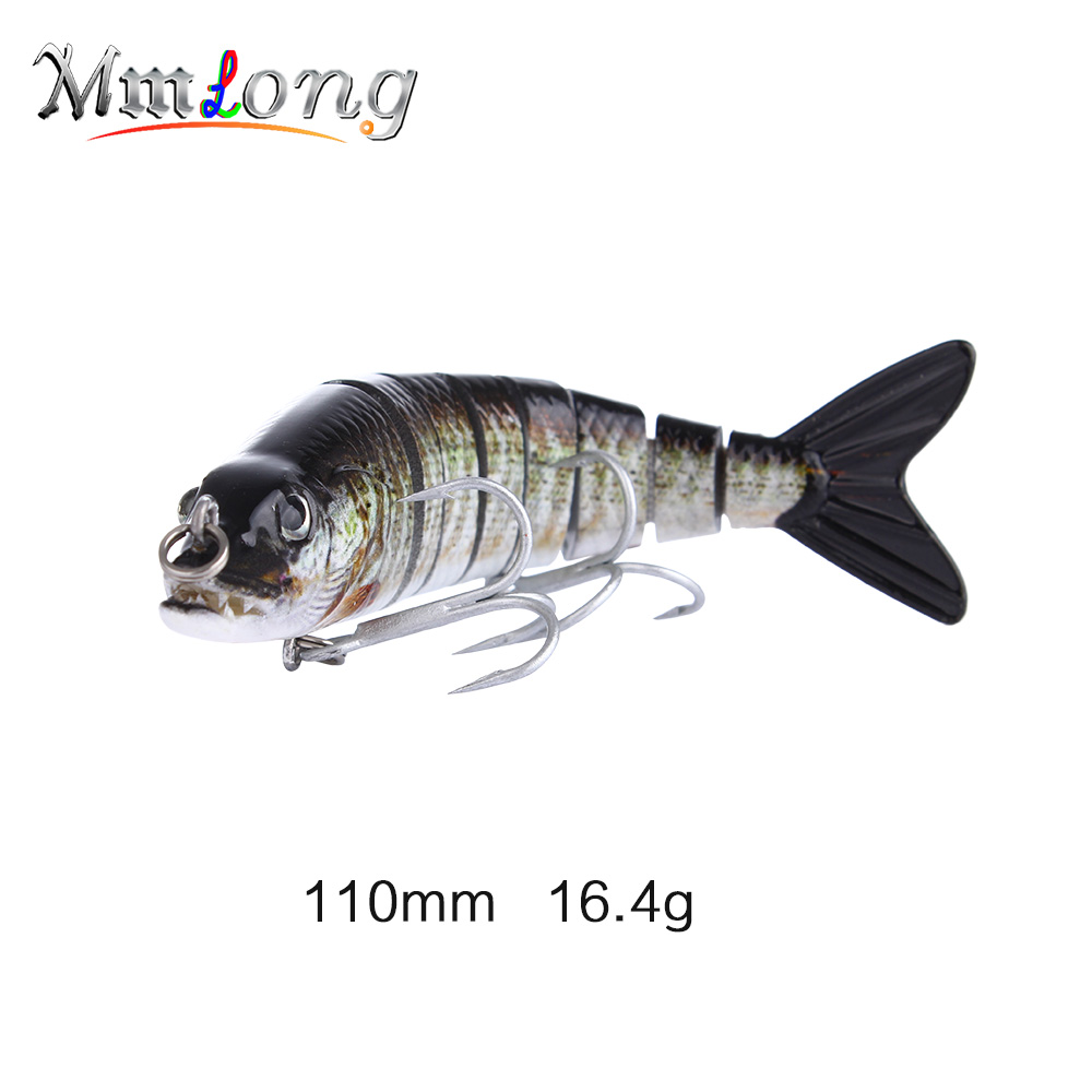 Mmlong 11cm VMC Artificial Fishing Lure Swimbait ML15D 16.4g Lifelike Fishing Crankbait 8 Segment Hard Fish Wobbler Lures Pesca wldslure 1pc 54g minnow sea fishing crankbait bass hard bait tuna lures wobbler trolling lure treble hook