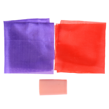 1 szt Podwójny kolorowy jedwabny zmieniający chusteczkę jedwabną magiczną sztuczkę zmień 2 wielki magiczny kameleon znikający magiczna zabawka i Prop tanie i dobre opinie SHPYHT COTTON CN (pochodzenie) 4-6y 12 + y 7-12y Unisex Jeden rozmiar Double Color Changing Hanky Silk Beginner Nauka Profesjonalne