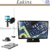Digita USB HDMI 14mp промышленная видео-микроскоп Камера набор 144 светло 100x высокое рабочее расстояние подставка держатель печатной платы телефон р...