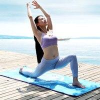 Printed Superfine Fiber Body Position Line Portable Sweat Absorbing Anti Slip Yoga Towel 185*68cm Yoga Blanket Pilates Mat Cover