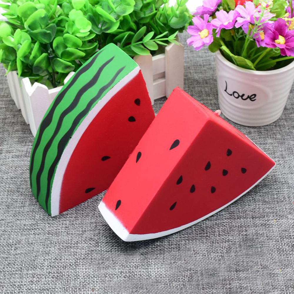 MUQGEW 15CM Fruit Watermelon Jumbo Kawaii Squishy Slow Rising Cream Scented Decompressio ...