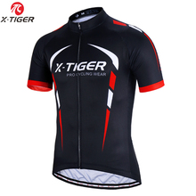 X TIGER 100% Polyester Cycling Jersey Summer Mountain Bicycle Clothing Maillot Racing Bike Clothes Cycling Clothing