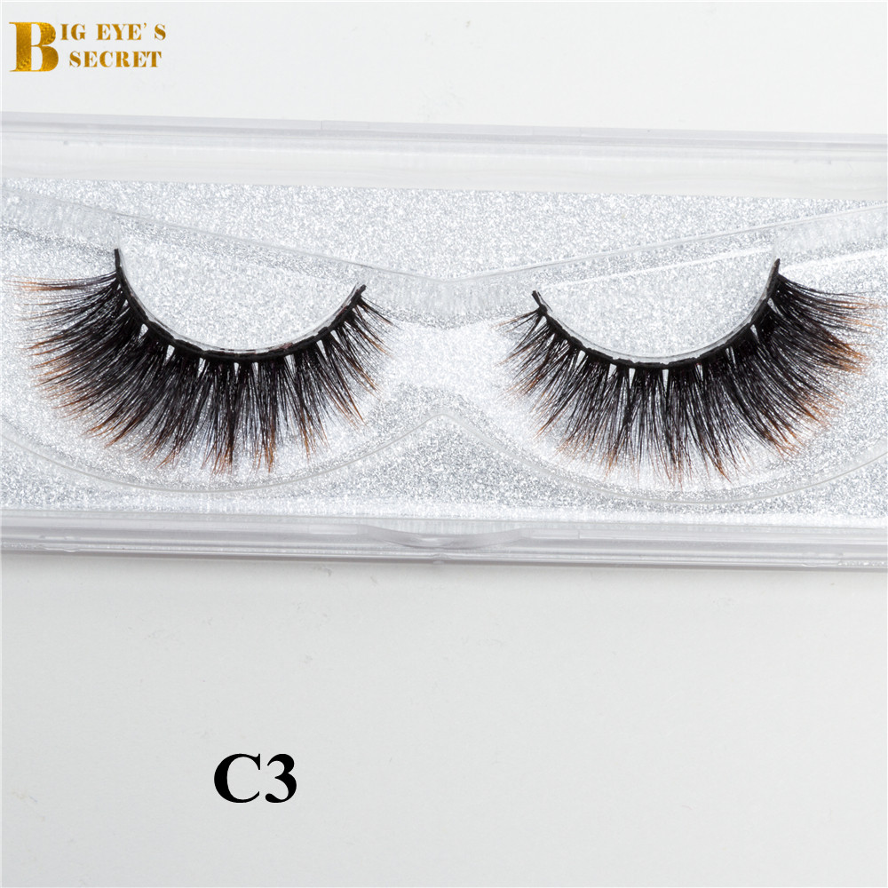 bonito e de bom gosto design 3d colorido falso vison cilios luxo macio 3d tira de