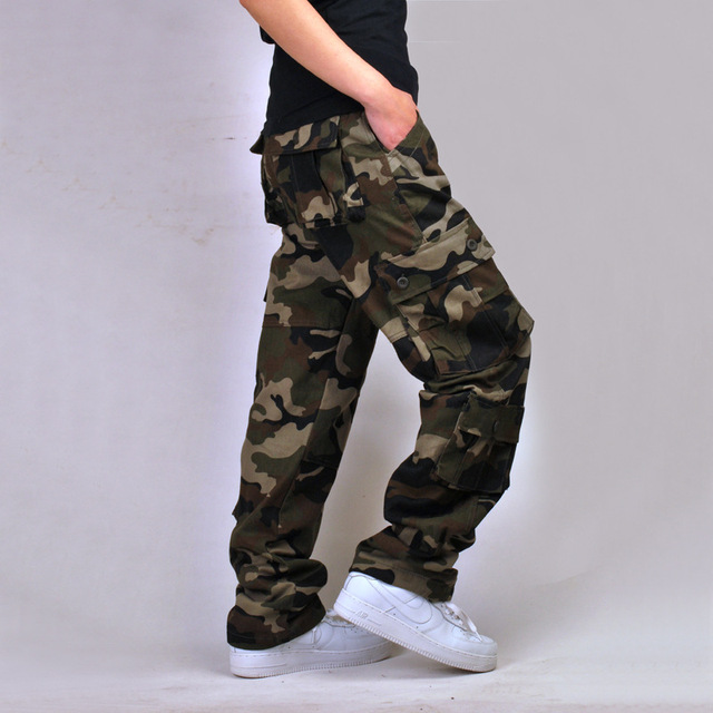 Mens Stage Wear High-end Fashion For Men Brand-clothing Camouflage Pants Fashion Big Size Military Cargo Pants For Men