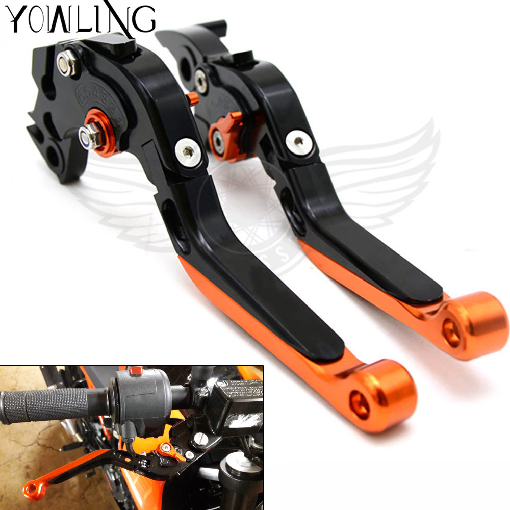 Motorcycle Folding Extendable CNC Moto Adjustable handbrake Clutch Brake Levers For KTM 690 Duke SMC SMCR Duke R 2014 2015 2016 for ktm rc390 rc200 rc125 125 duke high quality motorcycle cnc foldable extending brake clutch levers folding extendable lever