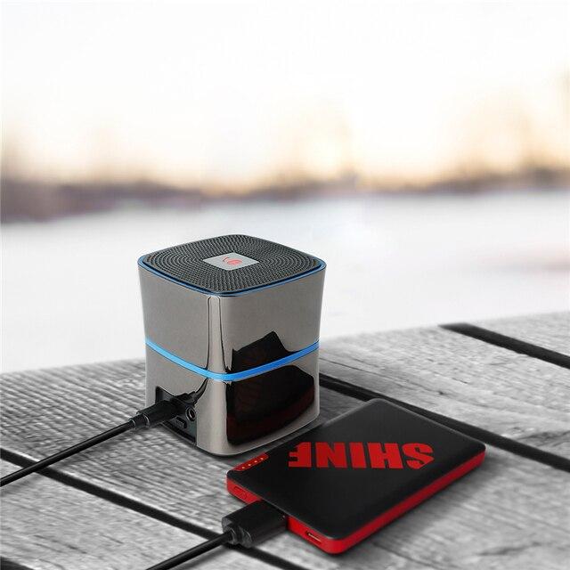 Portable phone charger mi powerbank EC Technology  18650 power bank 2400mah with 5W Enhanced Bass Bluetooth 4.0 Speaker