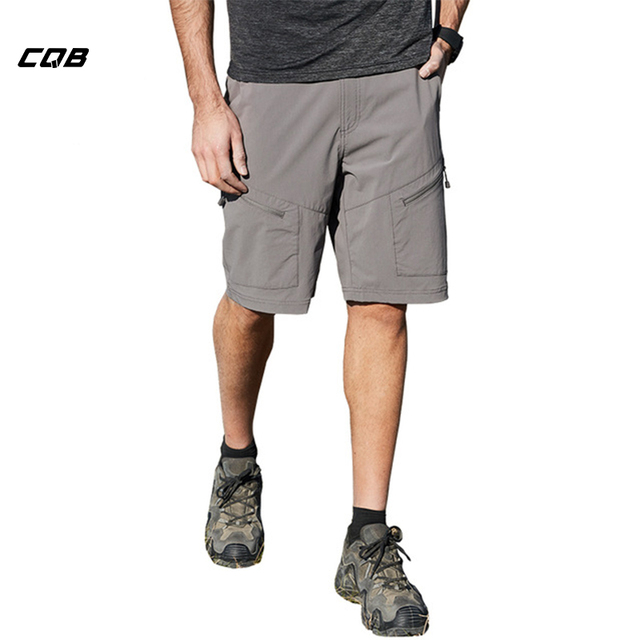 edb89d14b263 CQB Summer Outdoor Shorts Men Quick Dry Breathable Wear-resisting Hiking  Fishing Climbing Big Size Shorts