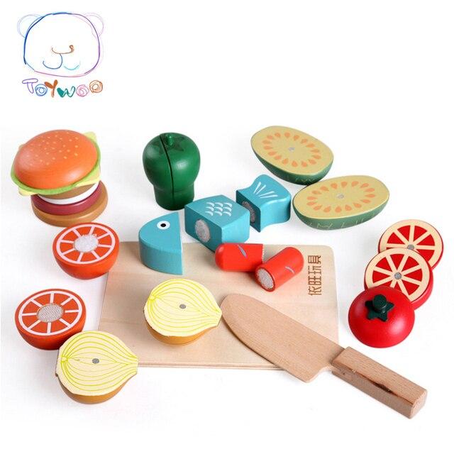 Juguetes Perakitan Makanan Kayu Mainan Simulasi Buah dan Sayuran Mainan  Magnet Single Dijual Klasik Berpura- 0fe0b4bbc7