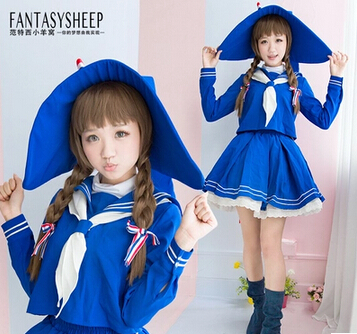 Livraison gratuite Wadanohara et la grande sorcière de mer bleue tenue de Costume Cosplay