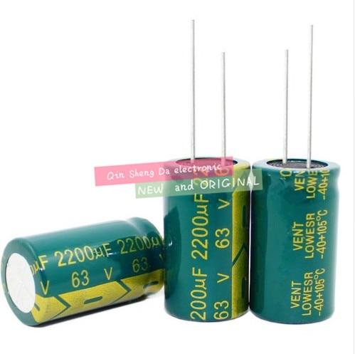3300UF 100UF 2200UF 450V 63V 50V 18*30MM de alta frecuencia de baja impedancia condensador electrolítico de aluminio