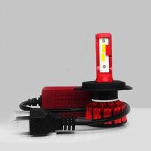 1 Pair Mini 9003 HB2 Lamp H4 Led Car Headlights Auto Dual Diode High Low Beam Bulbs For 6000K White 12V 24V 12000lm 100W