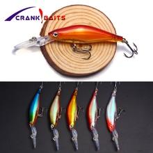 CRANK BAITS 3D Eyes Long Lip Minnow Fishing Lure 95mm 6.9g Artificial Laser Body Hard Bait Bass Pike Wobbler Pesca YB11
