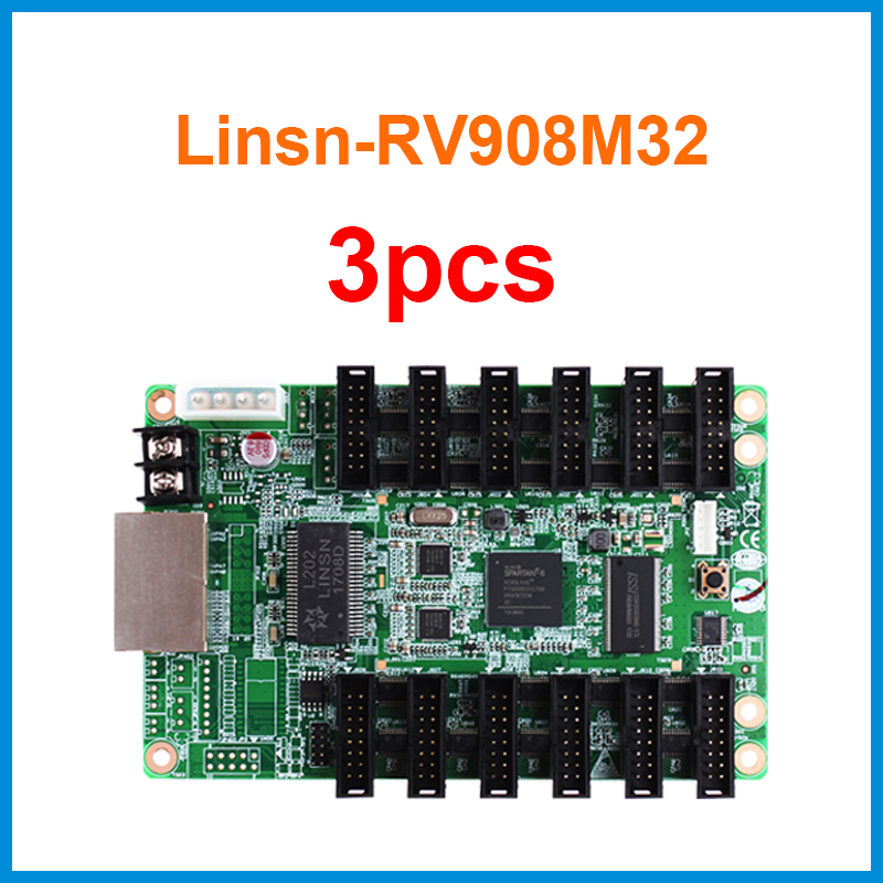 3pcs linsn led control system RV908M32 can work with ts802d card use in outdoor led signs display for business event projects3pcs linsn led control system RV908M32 can work with ts802d card use in outdoor led signs display for business event projects