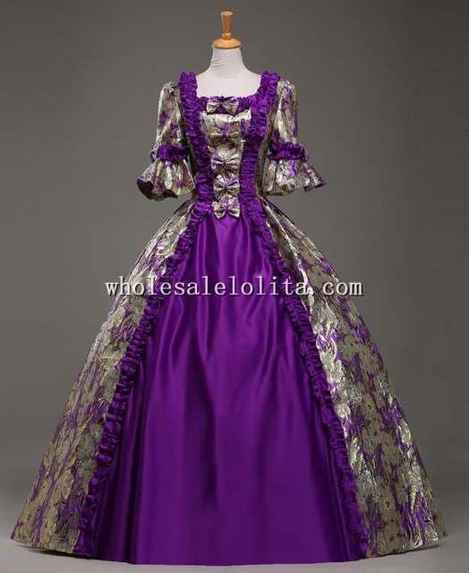 Purple Vintage Dresses